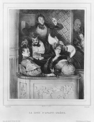 A front theatre box, engraved by Julien
