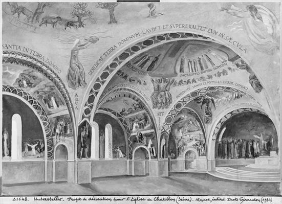 Set design for the church of Chatillon.