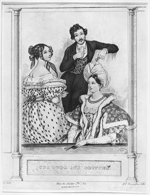 A theatre box at the Bouffes, engraved by Jean Denis Nargeot