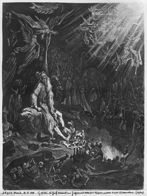 The Wandering Jew and the Last Judgement, engraved by Felix Jean Gauchard