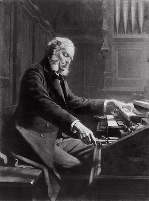 Cesar Franck at the console of the organ at St. Clotilde Basilica, Paris, 1885