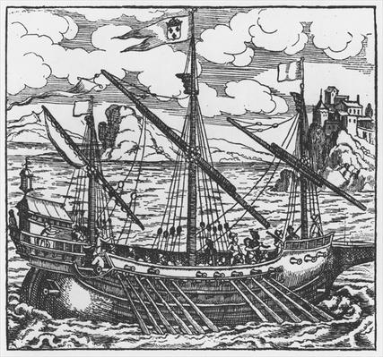 French galley operating in the ports of the Levant since Louis XI