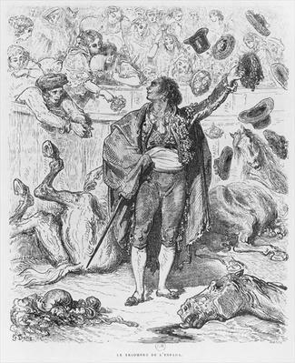 Triumph of a matador, engraved by Boetzel