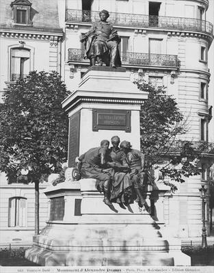Monument to Alexandre Dumas Pere, 1883