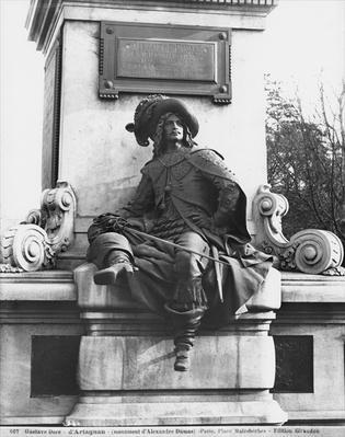 Monument to Alexandre Dumas Pere, d'Artagnan, 1883