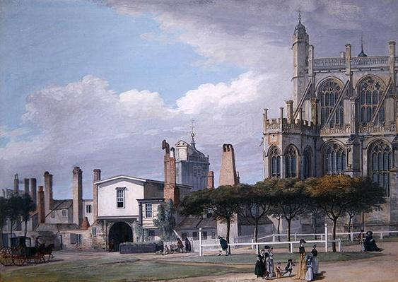 St George's Chapel, Windsor, and the entrance to the Singing Men's Cloister, c.1768