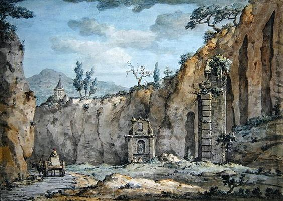 Oxcart in the Grotto at Posillipo, c.1770