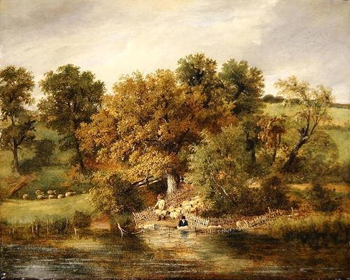 Sheep Washing at Postwick Grove, Norwich, c.1822