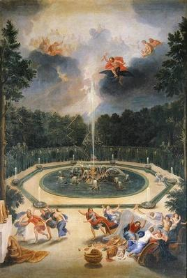 The Groves of the Versailles. View of the Fountain of Enceladus with the Feast of Lycaon
