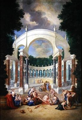 The Groves of Versailles. View of the Colonnade with Apollo and the Nymphs