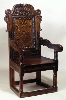 A Charles I armchair, mid 1600s
