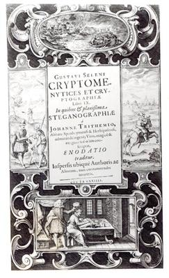 Title Page to Book 9 of 'Cryptomenysis and Cryptography' by Gustavus Selenus