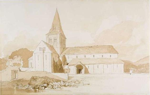 Notre Dame sur l'Eau, Domfront, Normandy, c.1820