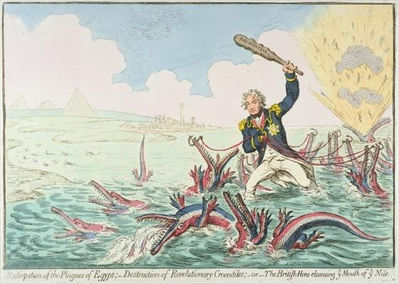 Extirpation of the Plagues of Egypt:- Destruction of Revolutionary Crocodiles, 1798