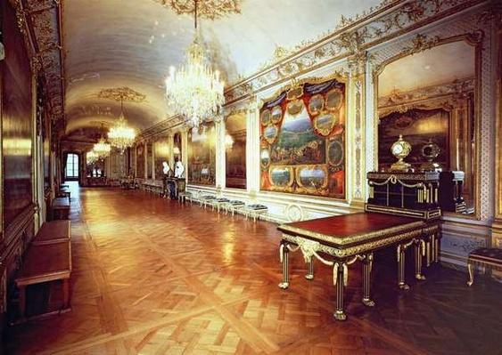 View of the Hall of Battles, Chateau de Chantilly