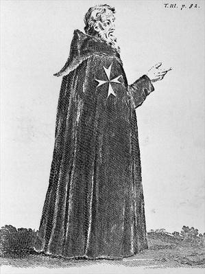 Knight Hospitaller in the original habit, worn until the fourteenth century