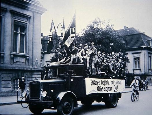 Truck load of Hitler Youth, Berlin, 1934