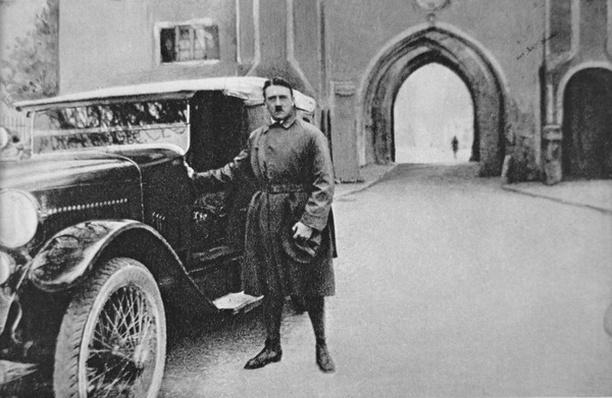 Adolf Hitler leaving Landsberg prison, 1924