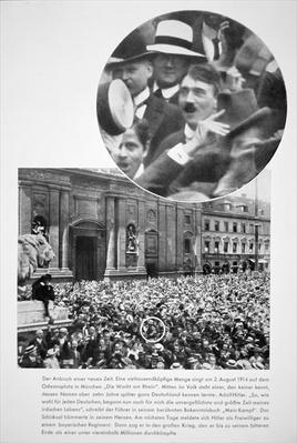 Hitler singing with the crowd in the Odeonplatz, Munich, 1914