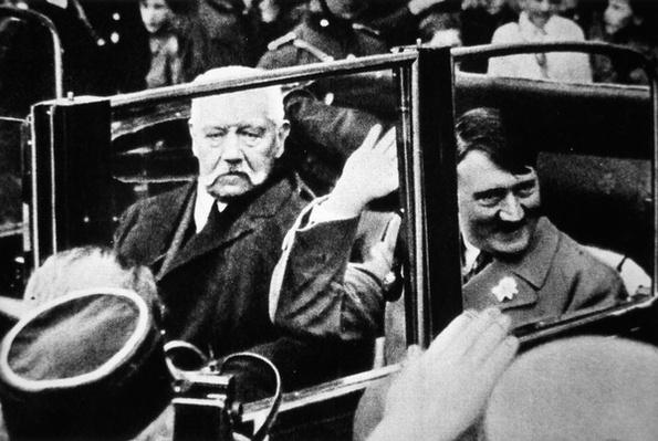 Hitler and President Hindenburg, 1933
