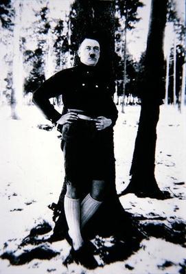 Hitler wearing lederhosen, c.1934