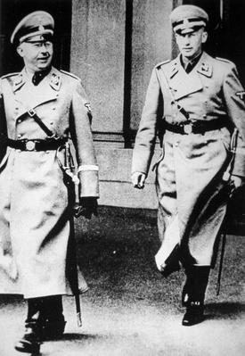 Heinrich Himmler with SS-Gruppenfuehrer Reinhard Heydrich, 1930s