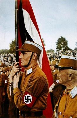 Nazi SA Brown Shirt with flag, 1933