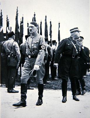 Hitler with SA leader Ernst Roehm, Nuremberg, 1933