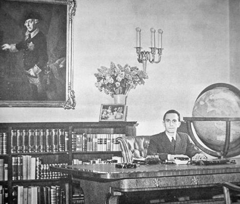 Josef Goebbels in his office