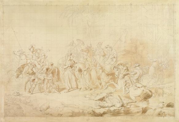 Banditti of Kurdistan Assisting Georgians in Surprising and Carrying off Circassian Women c.1827-28
