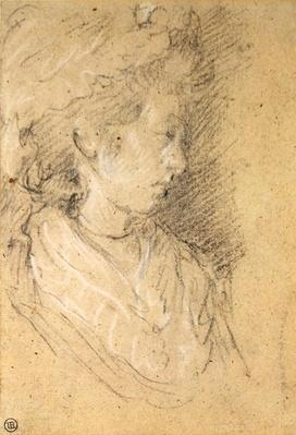 Study of a woman in a Mob Cap