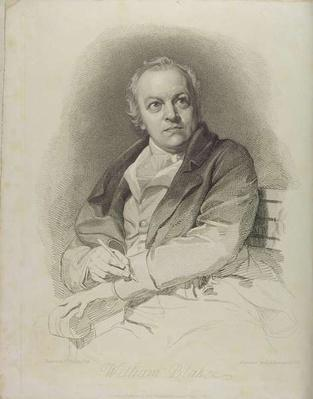 Portrait of William Blake, frontispiece from 'The Grave, A Poem' by William Blake