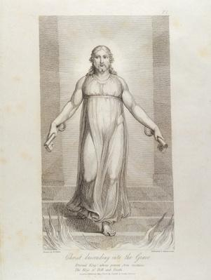 Christ descending into the Grave, pl.3, illustration from 'The Grave, A Poem' by William Blake