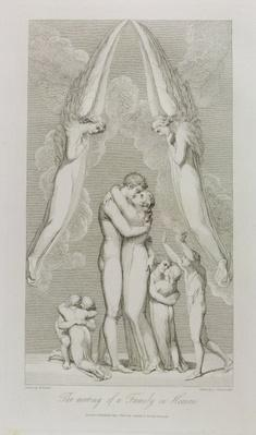 The Meeting of a Family in Heaven, pl.4, illustration from 'The Grave, A Poem' by William Blake