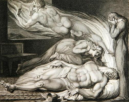 Death of the Strong Wicked Man, pl.6, illustration from 'The Grave, A Poem' by William Blake