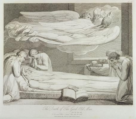 The Death of a Good Old Man, p.11, illustration from 'The Grave, A Poem', engraved by Luigi Schiavonetti