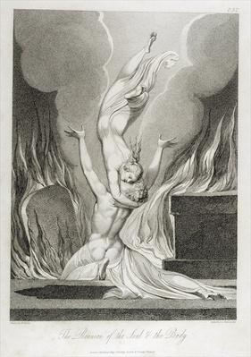 The Reunion of the Soul and the Body, pl.13, illustration from 'The Grave, A, Poem' by William Blake