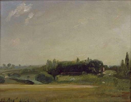 View Towards the Rectory, East Bergholt, 1813