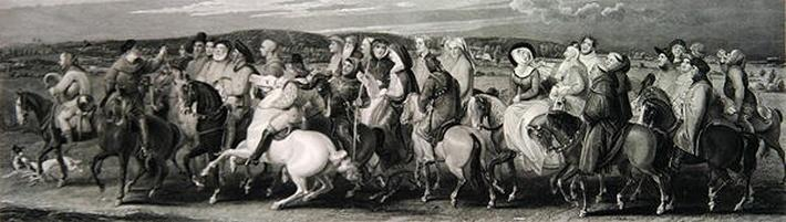 The Pilgrimage to Canterbury, engraved by James Heath