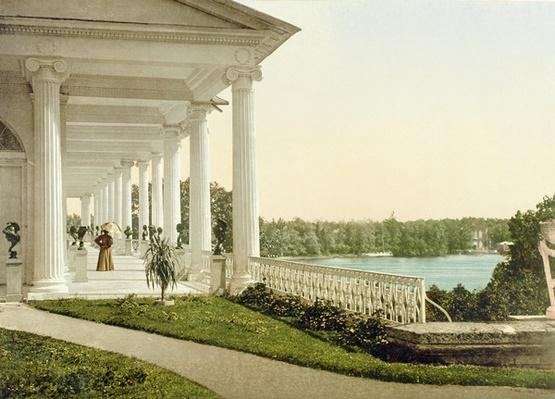 Vintage postcard of the Terrace at Tsarskoye Selo, 1890s