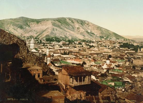 Vintage postcard of Tbilisi, 1890s
