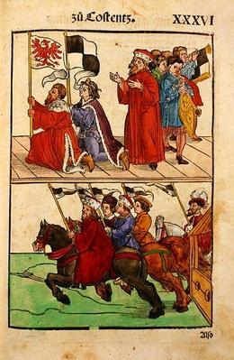 The Council of Constance, from 'Chronik des Konzils von Konstanz'