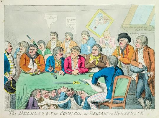 The delegates in council or beggars on horseback, 1797