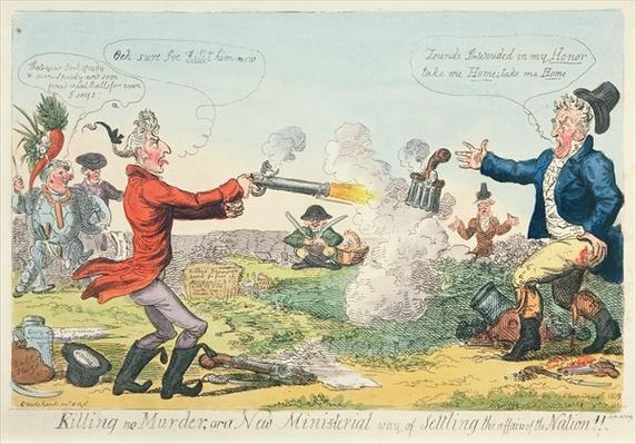 Killing no Murder, or a New Ministerial way of settling the affairs of the Nation!, 1809
