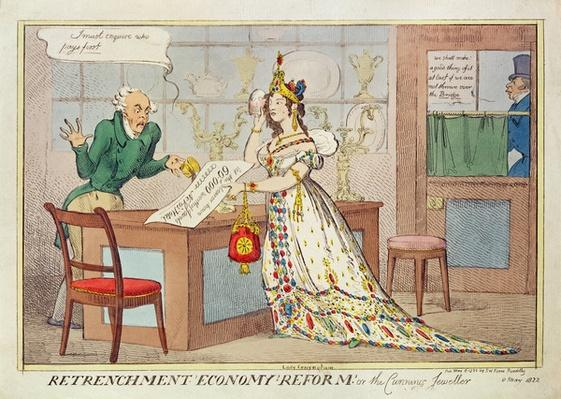 Retrenchment Economy Reform, or the Cunning Jeweller, 1822