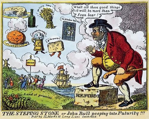 The Stepping Stone, or John Bull peeping into Futurity!!!