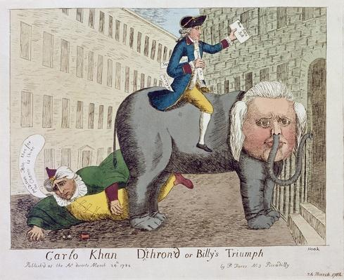 Carlo Khan Detron'd or Billy's Triumph, London, 24th March, 1784