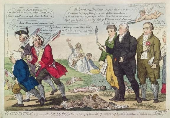 Vaccination against Small Pox or Mercenary and Merciless spreaders of Death and Devastation driven out of society!, 1808