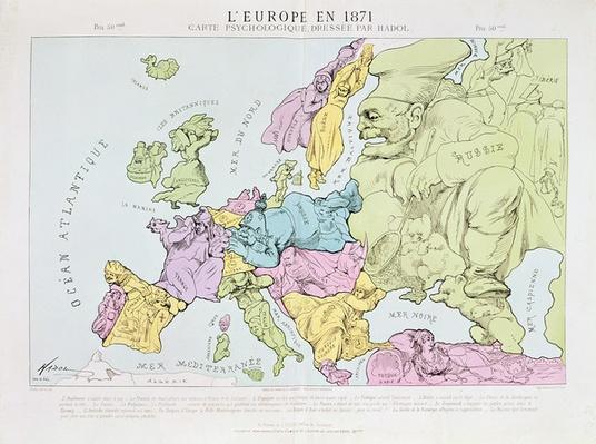 L'Europe en 1871, 1871