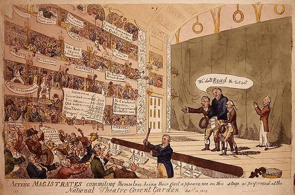 Acting Magistrates commiting themselves, being their first appearance as performed at the National Theatre Covent Garden, London, 1809